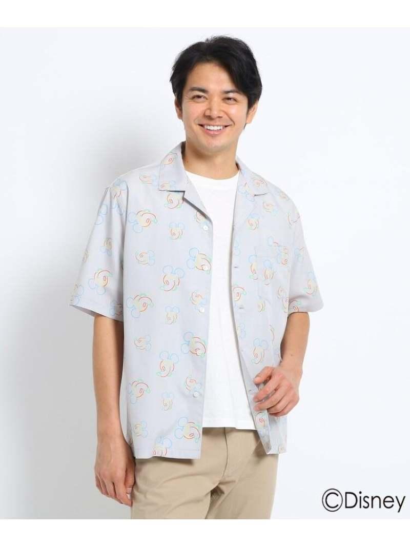 TAKEO KIKUCHI 【Sサイズ~】【ミッキーマウス】ネオンオープンカラーシャツ タケオキクチ シャツ/ブラウス シャツ/ブラウスその他 グレー ブラック【送料無料】