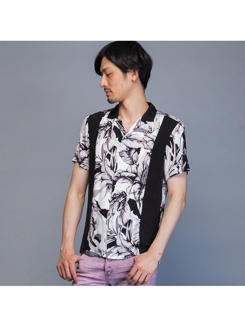 5351POUR LES HOMMES フラワープリントボウリングアロハシャツ ゴーサンゴーイチプールオム シャツ/ブラウス【送料無料】