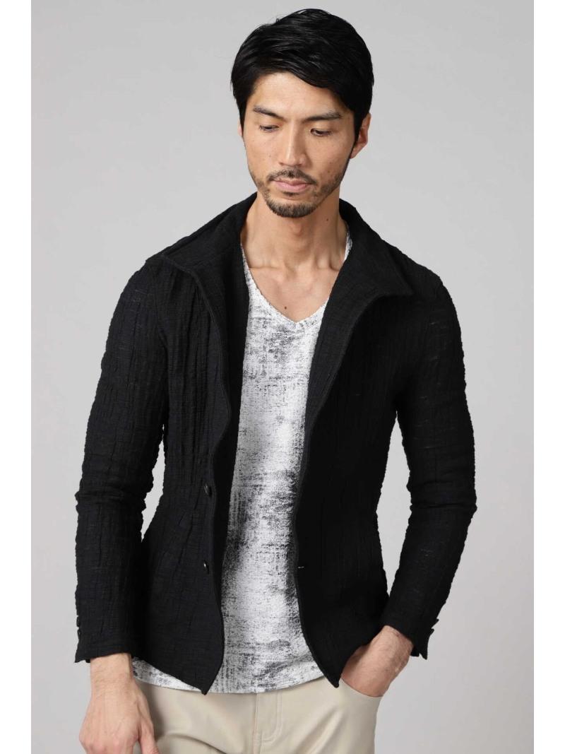TORNADO MART TORNADOMART∴クレープラッセルスタンドジャケット トルネードマート コート/ジャケット テーラードジャケット ブルー ブラック ホワイト【送料無料】