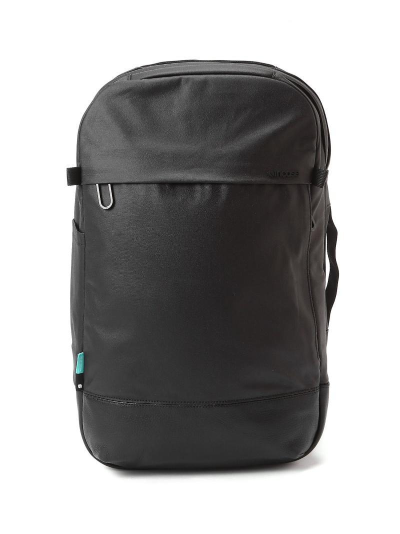 NAUGHTIAM INCASE(インケース)NAUGHTIAM別注 Canvas & Leather Backpack キャンバスレザー バックパック ノーティアム バッグ リュック/バックパック ブラック【送料無料】