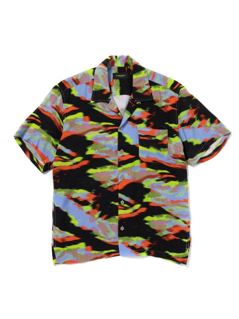 24karats 24karats/(M)3D Camo Shirt SS バーチカルガレージ シャツ/ブラウス 半袖シャツ ブルー【送料無料】