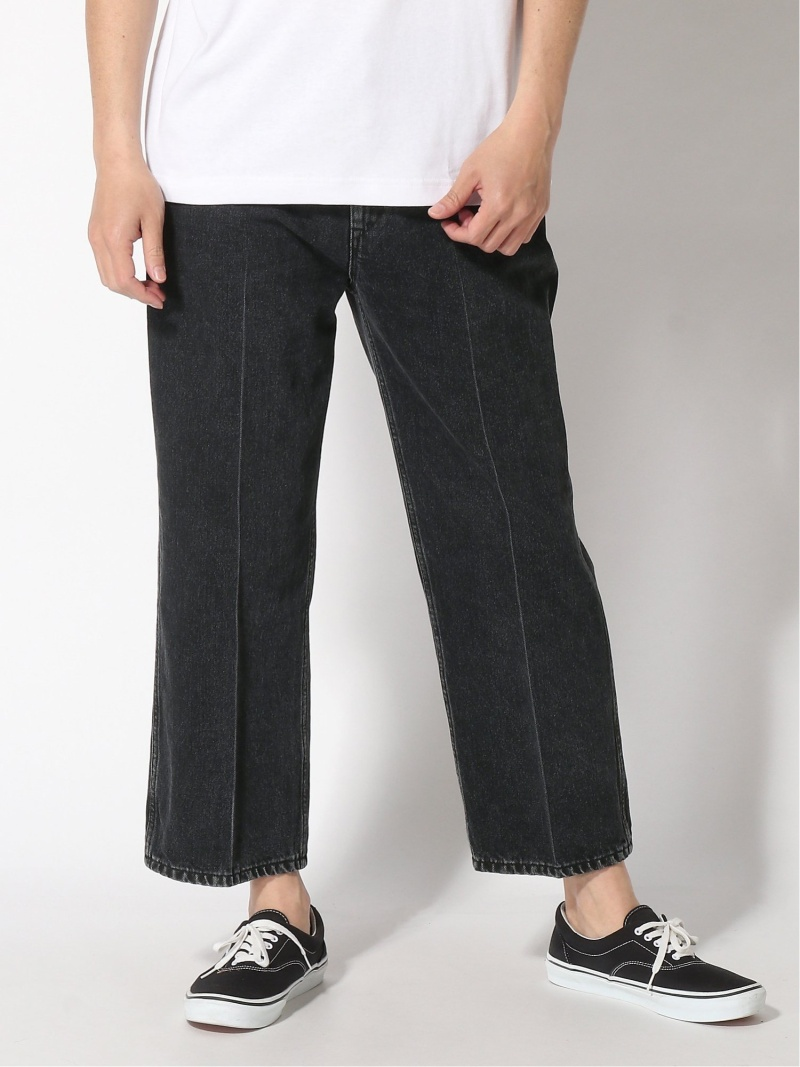 UDA UDA デニム pants ウィズム パンツ/ジーンズ ワイド/バギーパンツ ブラック ブルー【送料無料】
