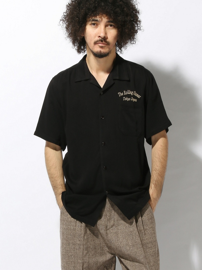 THE ROLLING STONES/TRSオープンカラーシャツ ジャックローズ シャツ/ブラウス【送料無料】