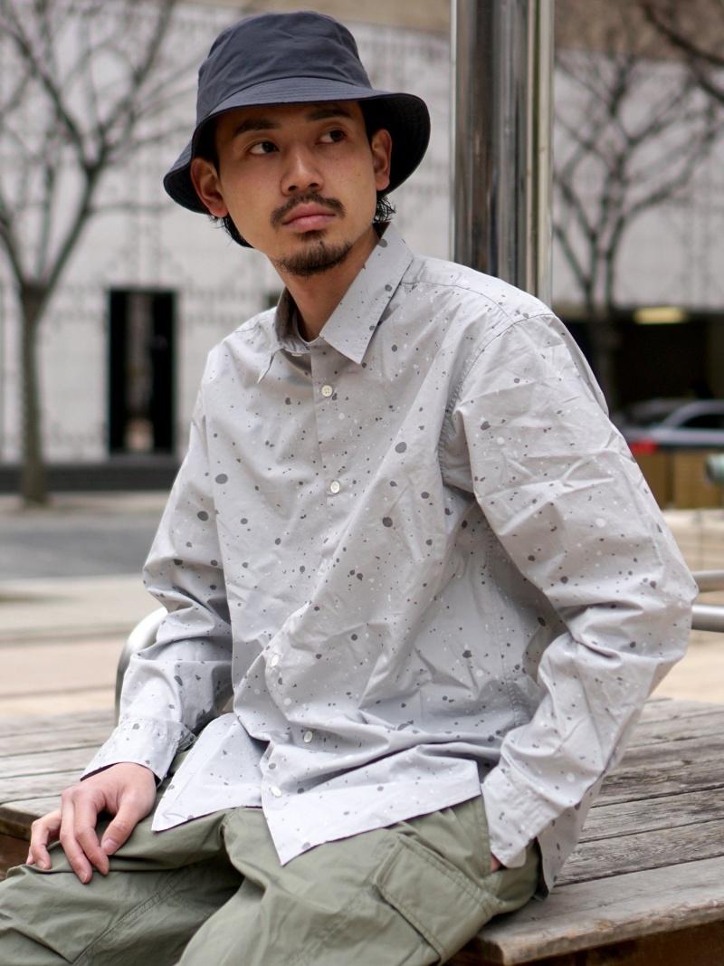 BEAMS MEN BEAMS / スプラッシュプリント ミニレギュラーシャツ ビームス メン シャツ/ブラウス 長袖シャツ ホワイト【送料無料】