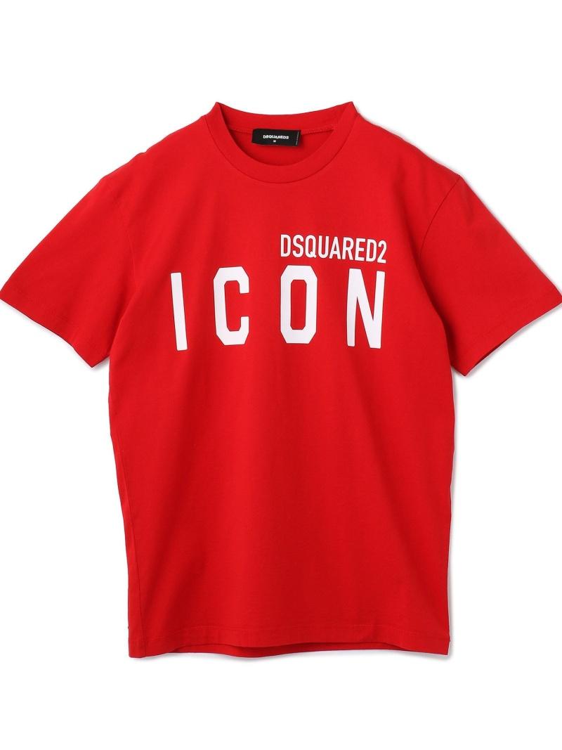 LHP DSQUARED2/ディースクエアード/ICONTシャツ エルエイチピー カットソー Tシャツ レッド ブラック【送料無料】