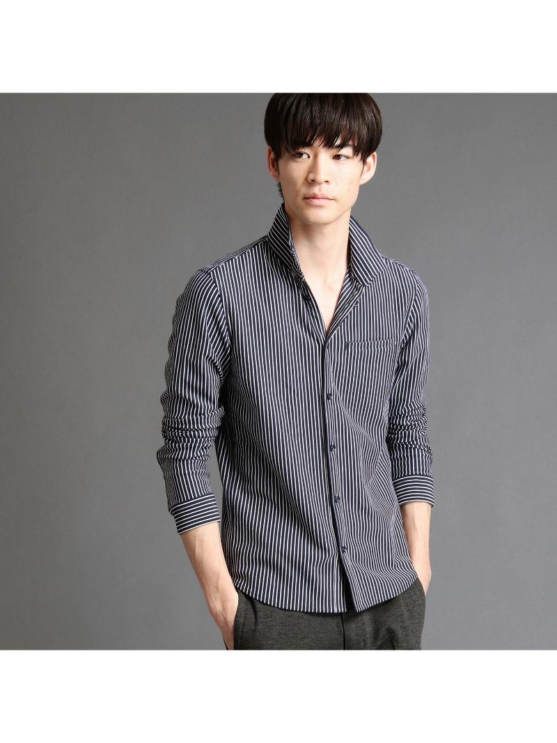 NICOLE CLUB FOR MEN ストライプ柄長袖カットシャツ ニコル シャツ/ブラウス【送料無料】
