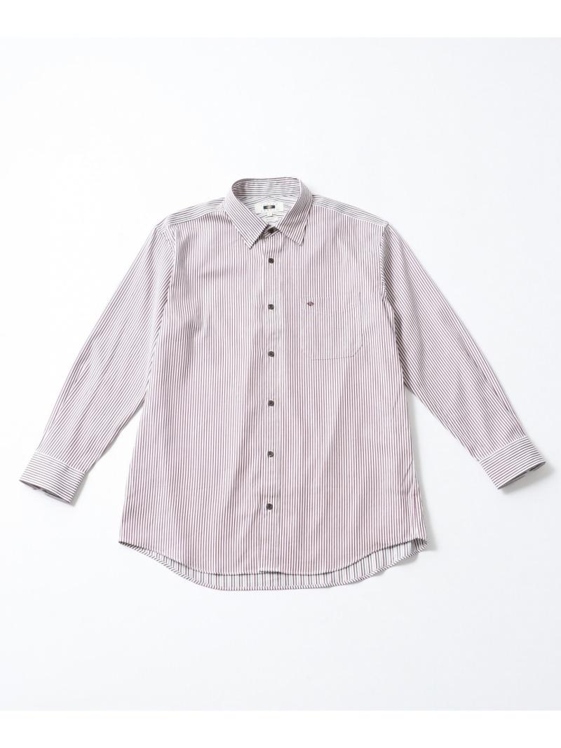 JOSEPH ABBOUD Wフェイスストライプ シャツ ジョセフアブード シャツ/ブラウス【送料無料】