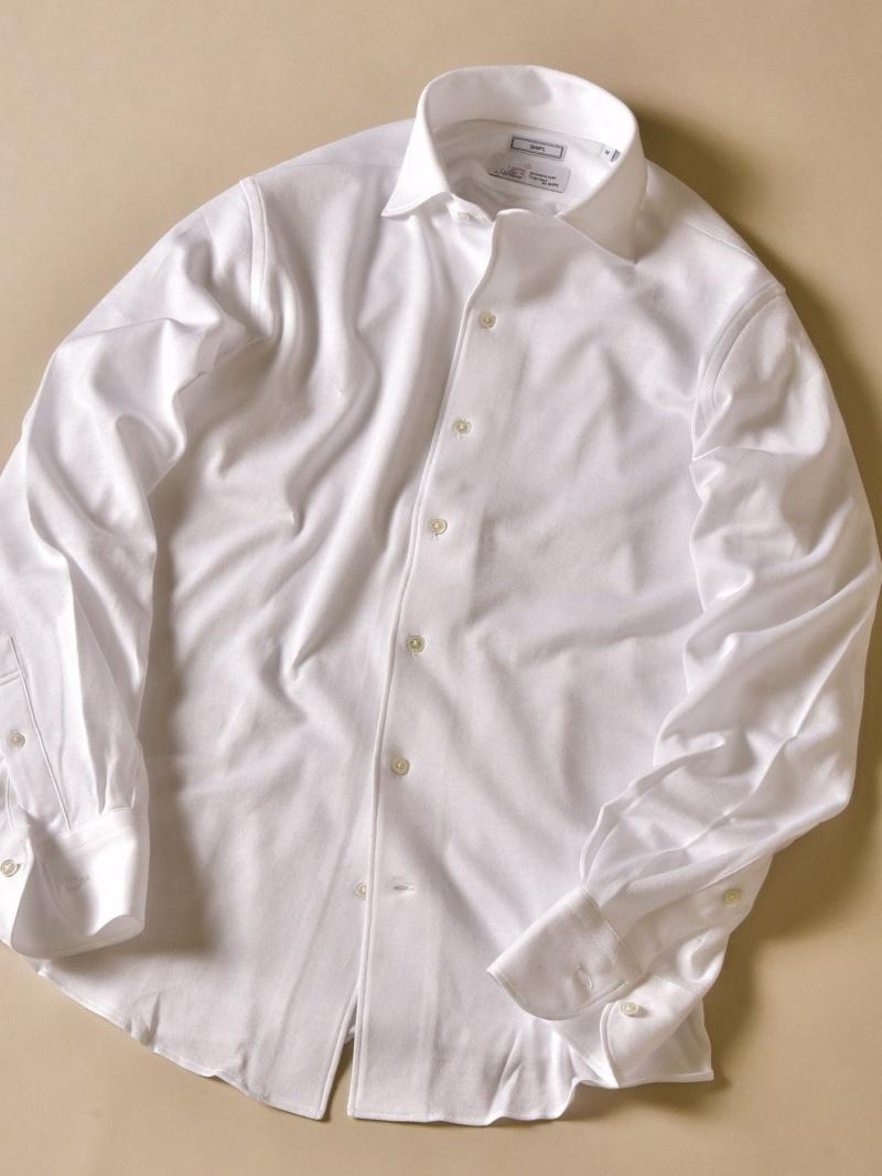 SHIPS SD:ALBINI社製生地 クリアソリッド ワンピースカラー ネルシャツ シップス シャツ/ブラウス シャツ/ブラウスその他 ホワイト ブルー【送料無料】