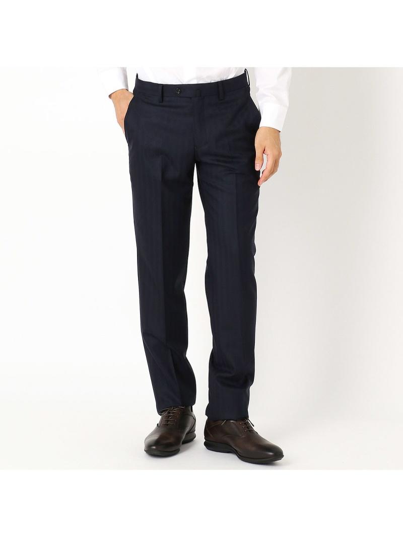 COMME CA ISM 《セットアップ》super140'sヘリンボーン スーツパンツ コムサイズム ビジネス/フォーマル【送料無料】