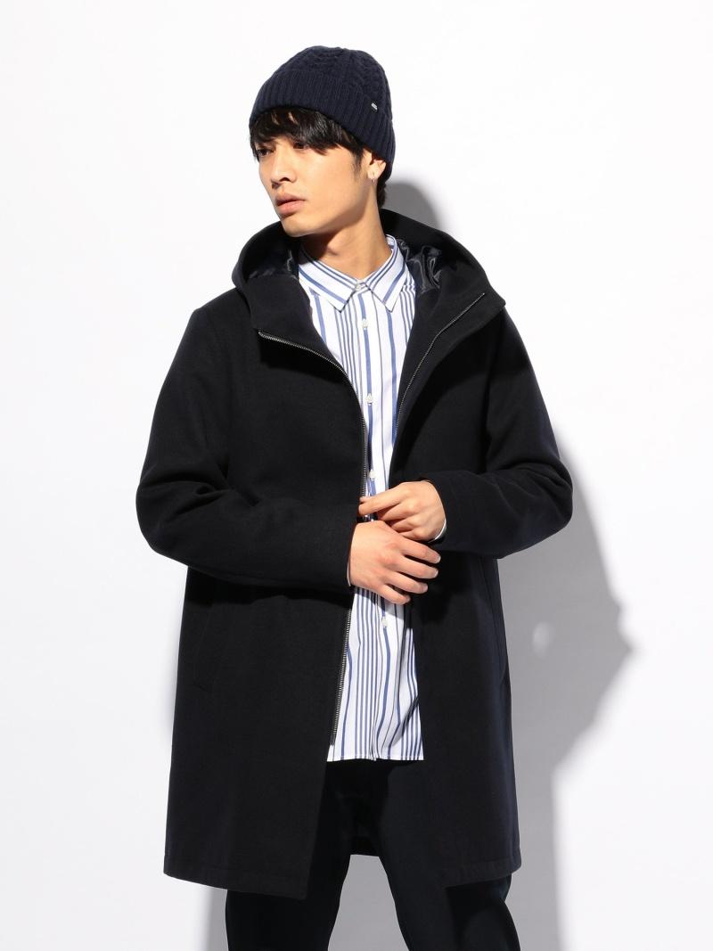 UNION STATION スムースメルトンフードデッドコート メンズ ビギ コート/ジャケット【送料無料】