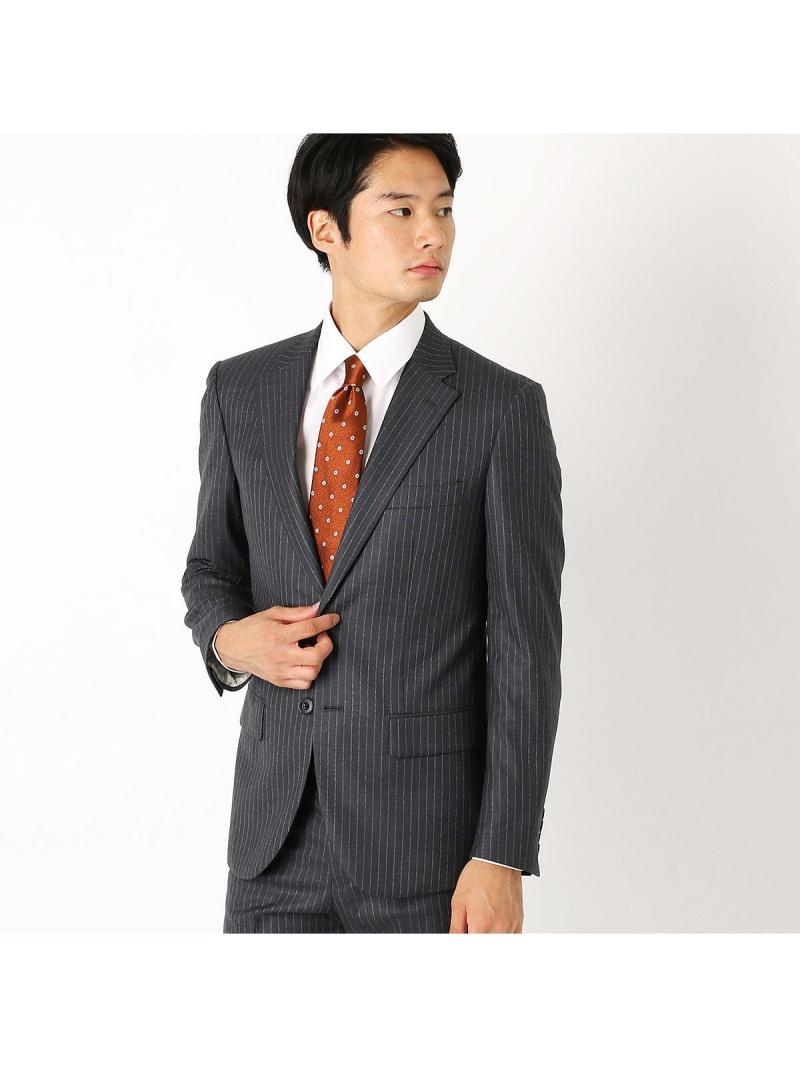 COMME CA ISM 《セットアップ》super140'sツイルストライプ スーツジャケット コムサイズム ビジネス/フォーマル【送料無料】