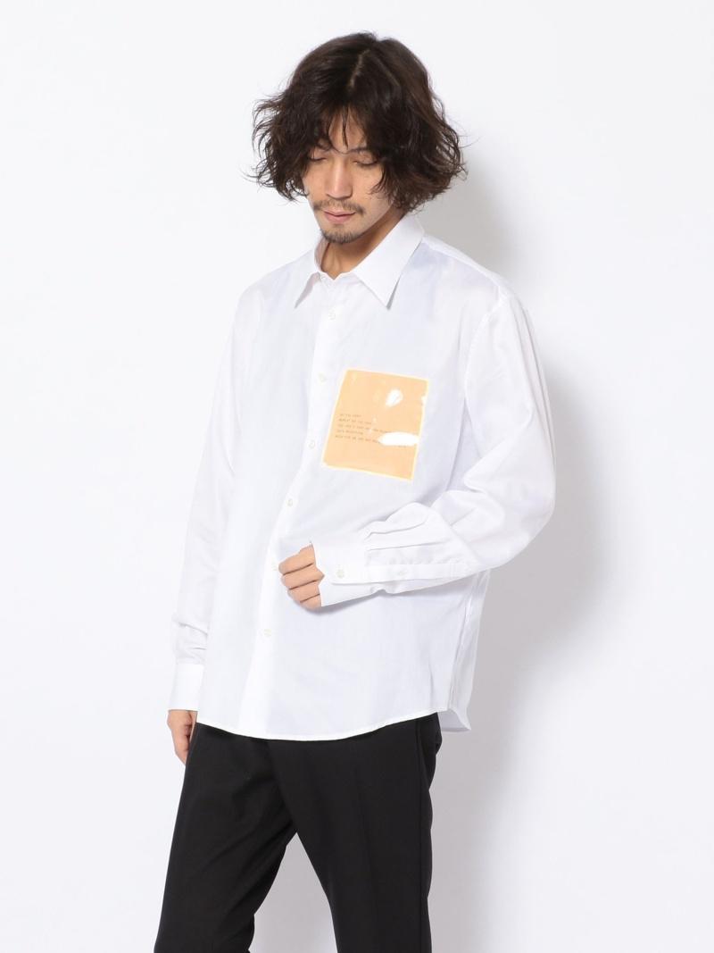 B'2nd LIBERUM(リベルム)/ポケットシャツ ビーセカンド シャツ/ブラウス 長袖シャツ ホワイト ベージュ【送料無料】