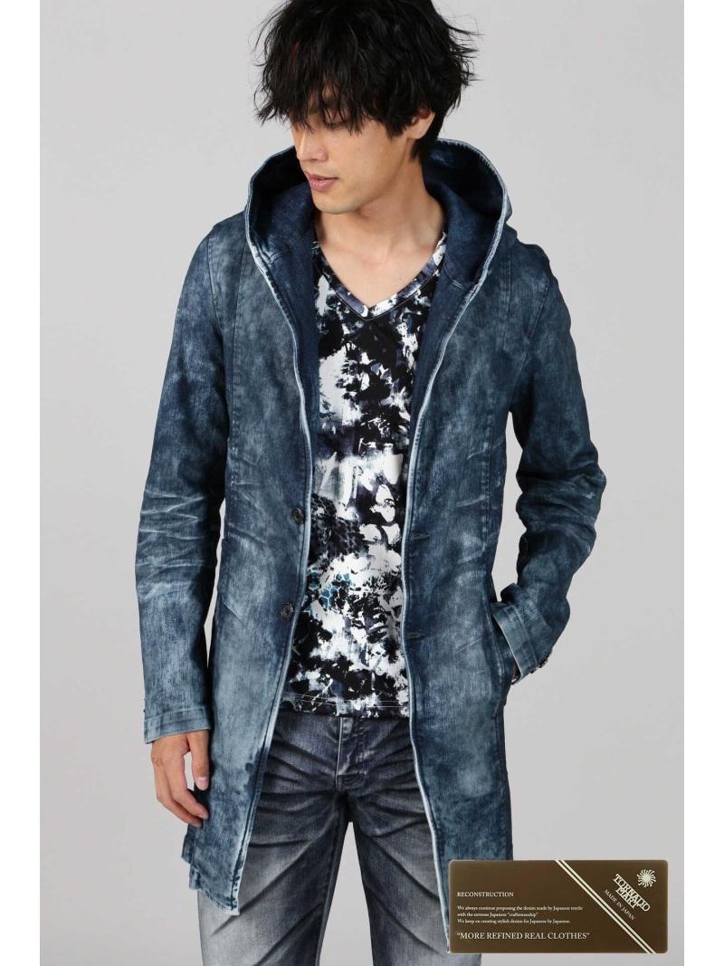 TORNADO MART TORNADO MART∴クラウドクリアコーティングフーディコート トルネードマート コート/ジャケット コート/ジャケットその他 ブルー【送料無料】