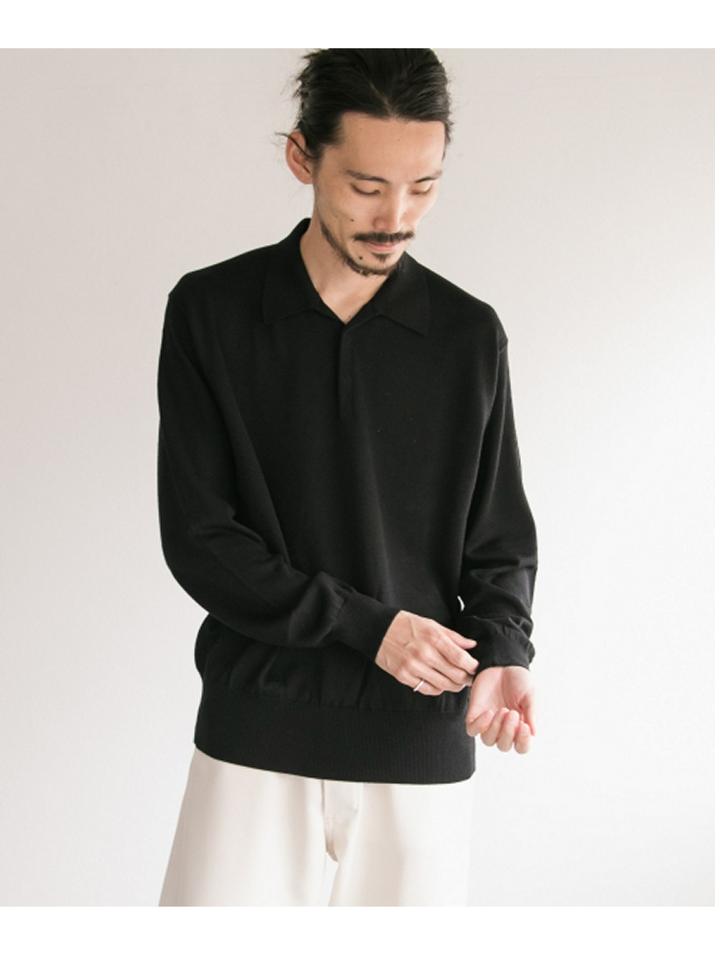 【SALE/40%OFF】URBAN RESEARCH COSEI12G度詰め天竺ポロシャツ アーバンリサーチ カットソー ポロシャツ ブラック【RBA_E】【送料無料】