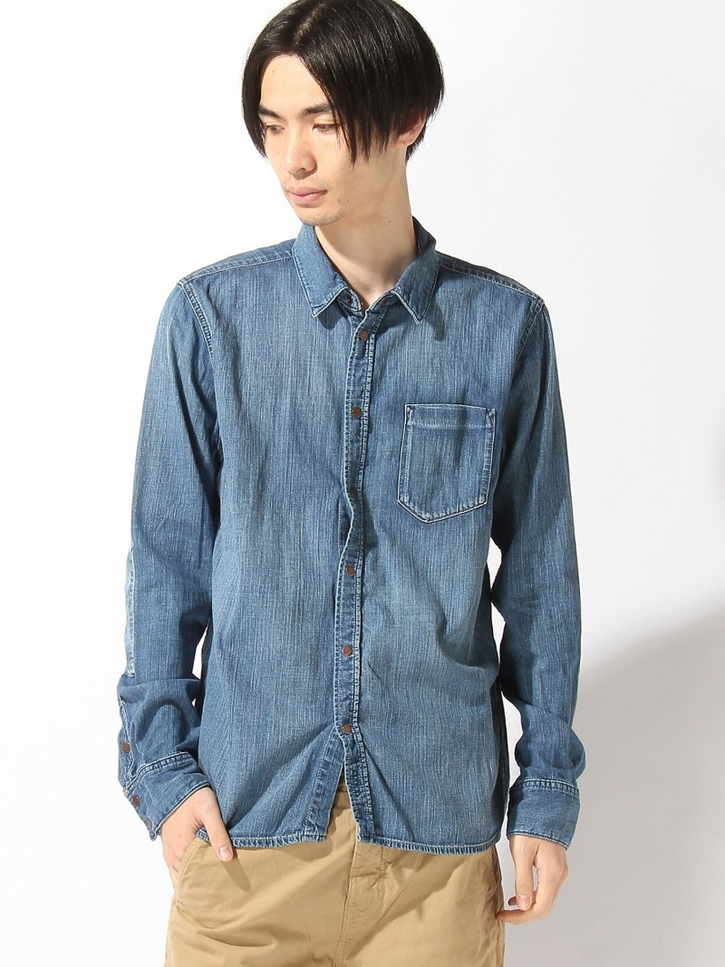 【SALE/30%OFF】nudie jeans nudie jeans/(M)Henry_LS-シャツ ヌーディージーンズ / フランクリンアンドマーシャル シャツ/ブラウス【RBA_S】【RBA_E】【送料無料】