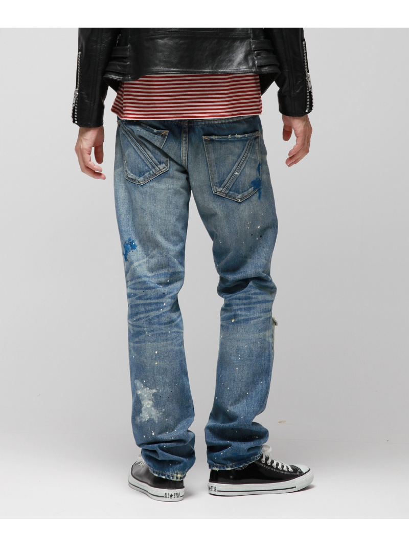 VANQUISH[VJP3101]penkiregyurafittosutoretovankisshupantsu/牛仔裤