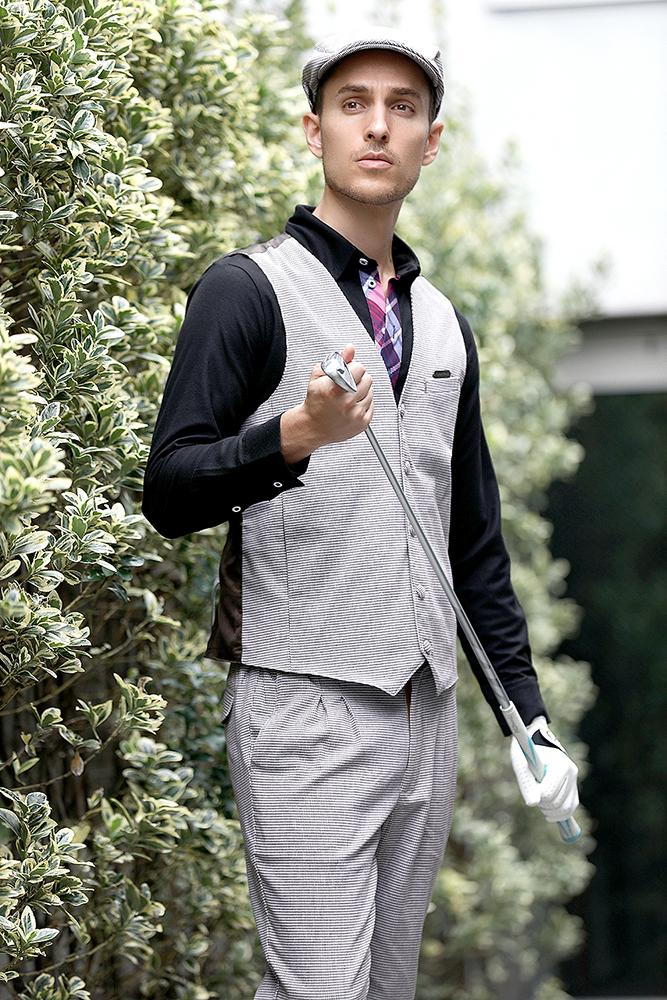 エクセランゴルフ Excellent Golf ニッカボッカー ゴルフウェアメンズ 2019ニューモデル 千鳥格子ベスト 【送料無料】