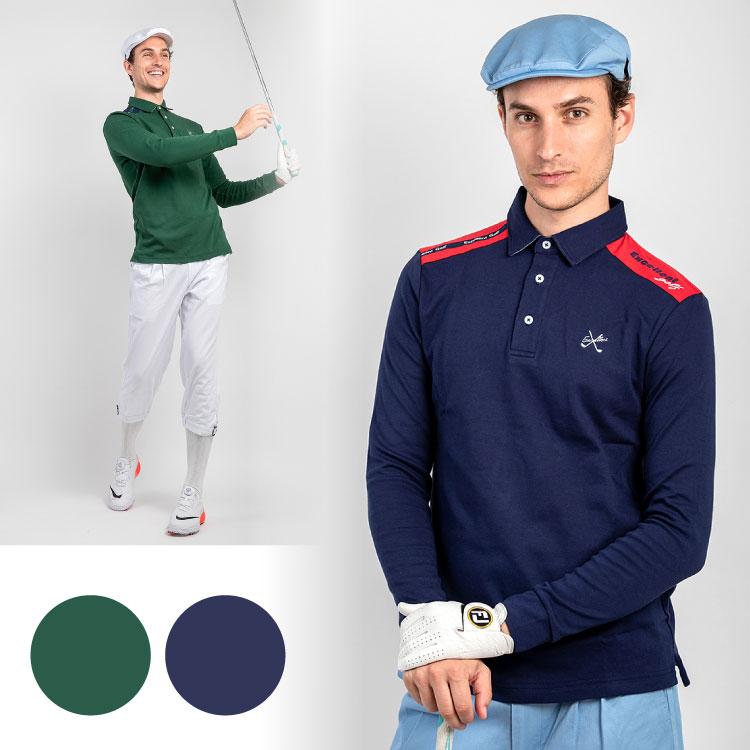 【EX-LSS2】長袖ストレッチポロ エクセランゴルフ Excellent Golf ゴルフウェア メンズ ファッション おしゃれ カジュアル タウン 長袖 ポロ