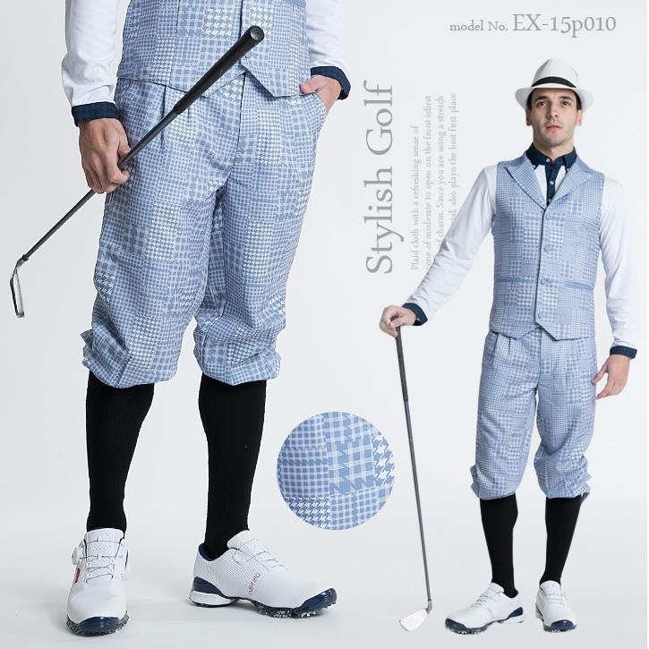 エクセランゴルフ Excellent Golf ニッカボッカーズ ニッカーボッガー 英国 乗馬 ゴルフウェア メンズ ゴルフウェア 春 スポーツウェア おしゃれ ストレッチ【ALL SEASON/通年】【通常タイプ】
