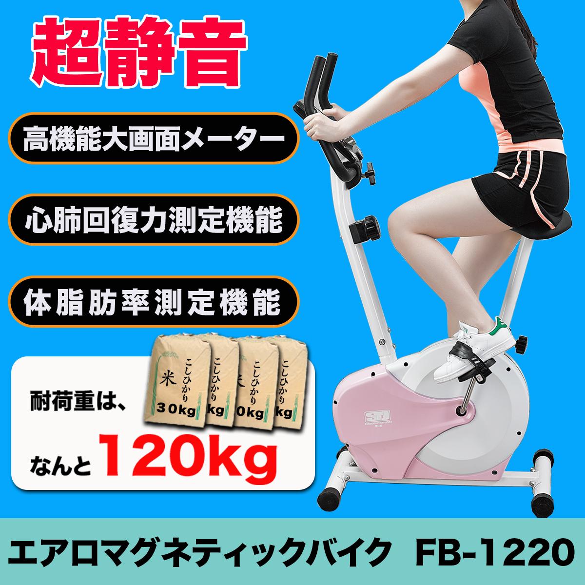 【マラソン期間限定PT10倍】エアロマグネティック バイクFB-1220 丈夫 安定 超静音 耐荷重120kg フィットネスバイク 有酸素運動 ダイエット