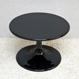 ラウンジテーブル コーヒーテーブル ソファ サイドテーブル 白 黒,ローテーブル 丸テーブル 60 モダン おしゃれ チューリップテーブル,光沢 ホワイト ブラック【送料無料】【品質1年保証・除く業務使用】