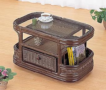 ガラステーブル アジアン家具 ラタン リゾート,籐 ラタン テーブル リビングテーブル,【完成品】【送料無料】
