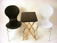 ダイニングチェア 椅子 木製スタッキングチェアー チェア 食卓チェア木製座面/ブラック ホワイト