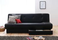 ソファー 2人掛け カウチ リクライニングソファー日本製 ソファーベッド 収納 一人暮らし シングル高級PUソフトレザー仕様
