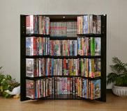日本製コミックラック CD DVD収納ラック4段AVラック ビデオラック 本棚 書棚 収納庫低ホルムアルデヒド 幅60cm×高さ93cm