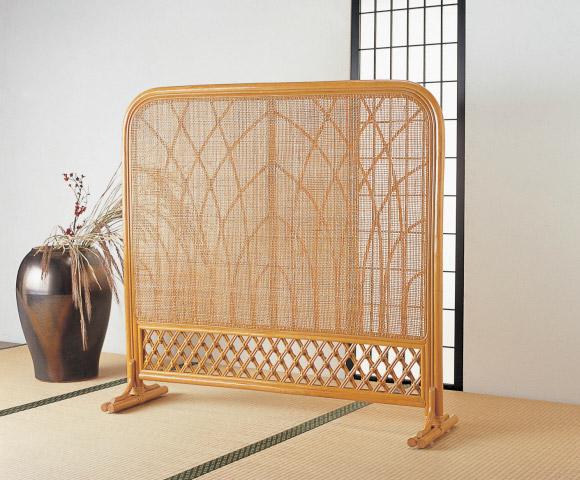 ついたて 間仕切り スクリーン パーテーション衝立 パーテーション 和風 アジアン完成品 籐 ラタン 家具