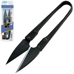 抜群の軽さと耐久性のはさみクロバー お歳暮 人気ブランド多数対象 糸切りはさみ ブラック グッドデザインに選ばれたヒット商品 黒刃