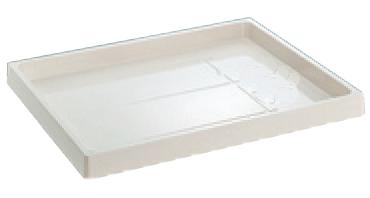 洗濯機防水パン 万能トレイBT-8064SNW(穴なしタイプ) シナネン