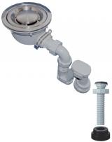 キッチン排水用品 バック排水ステンレストラップセットDT-M-2 50x180φ ダイドレ