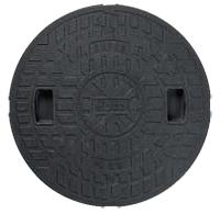 マンホール Joto 丸マス蓋 樹脂製 600型(直径650mm) JM600C-2 ロックなし(ブラック 枠なし) 城東テクノ