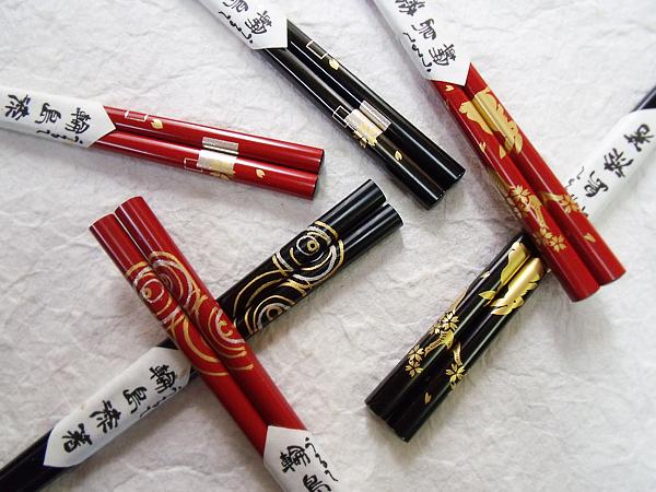 【完全受注販売】輪島漆塗箸はんこ蒔絵各種10膳バラ