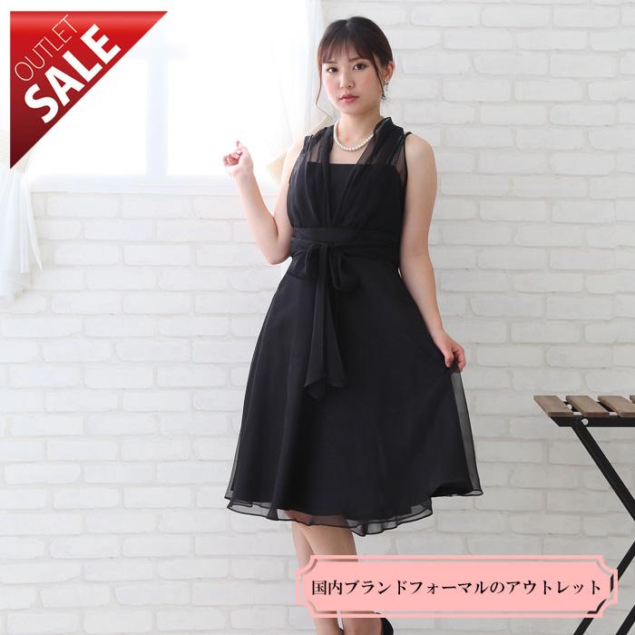 【67%OFF!】日本製親族結婚式二次会ドレス|ラメシフォンのホルターネックドレス13号(ブラック)