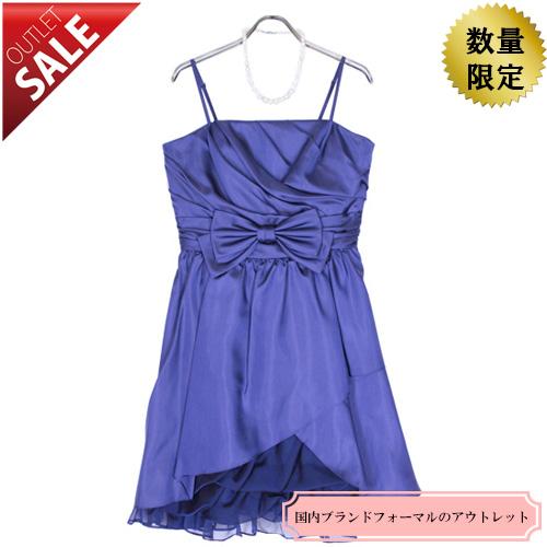 【76%OFF!】日本製パーティードレス結婚式お呼ばれ二次会|ボリュームフリルキャミドレス13号(ネイビー)