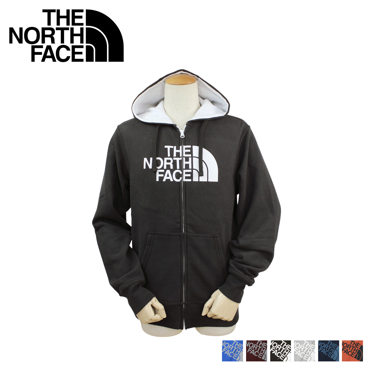 north face zip up hoodie