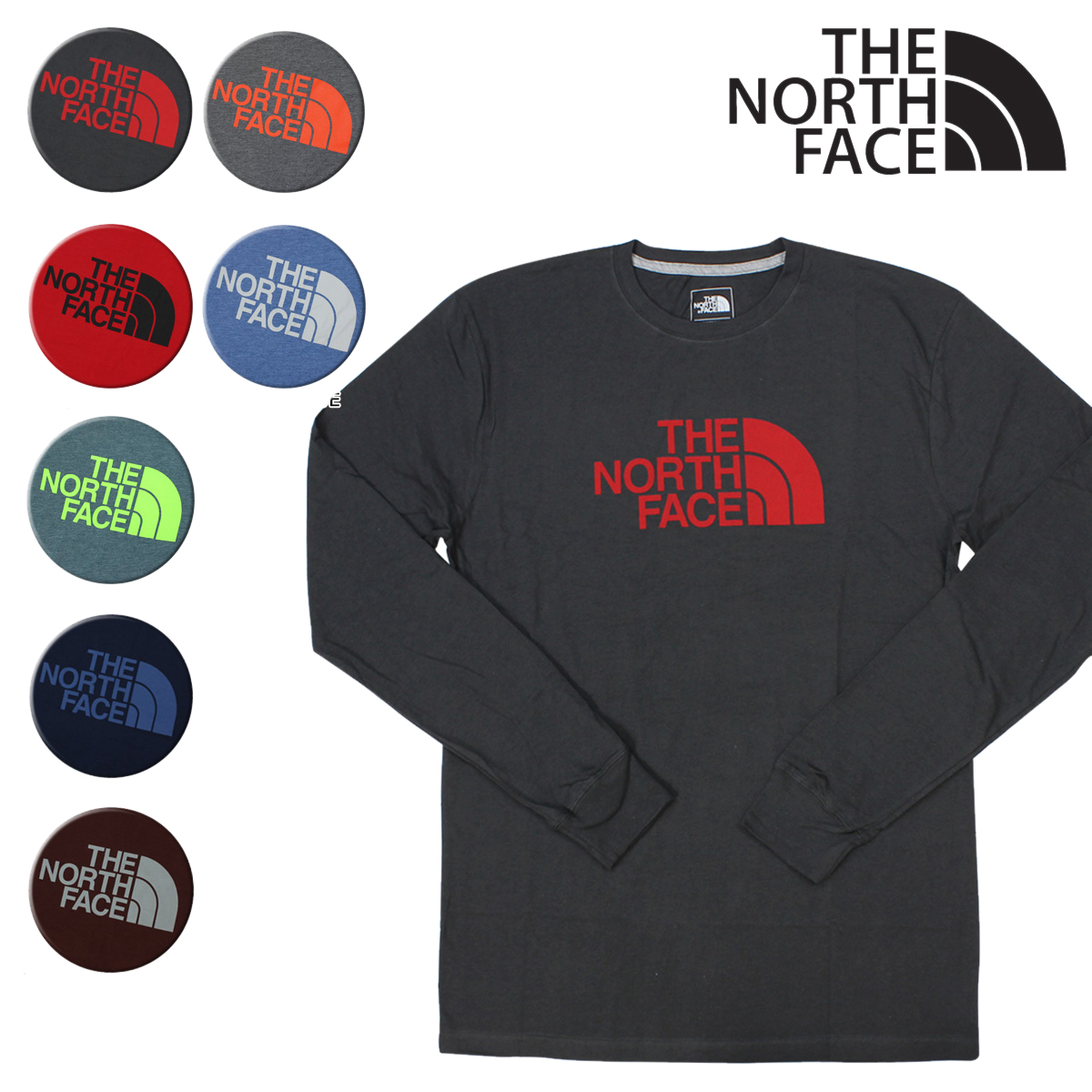 5f7e2b352 North Face THE NORTH FACE T-shirt Ron T long sleeves MEN'S LONG-SLEEVE HALF  DOME TEE men