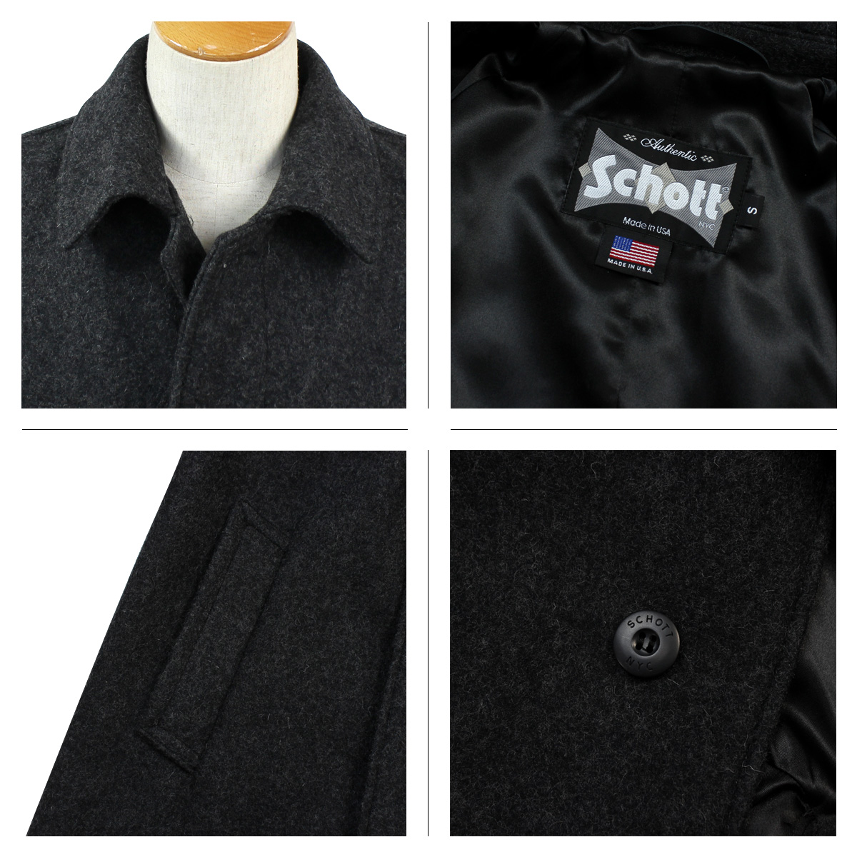 Sugar Online Shop | Rakuten Global Market: Shot Schott coat wool ...