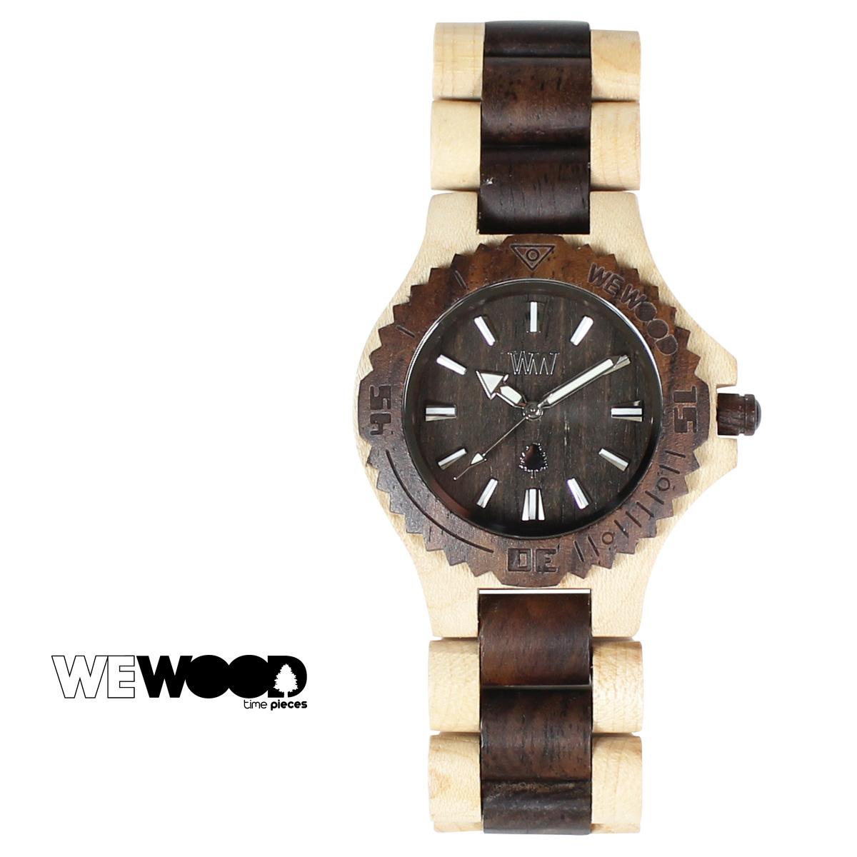 ウィーウッド 腕時計 レディース WEWOOD DATE ベージュ チョコレート BEIGE CHOCOLATE メンズ