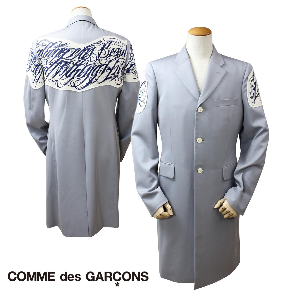 COMME des GARCONS HOMME PLUS コムデギャルソン ジャケット ロングコート グレー メンズ 【決算セール 返品不可】