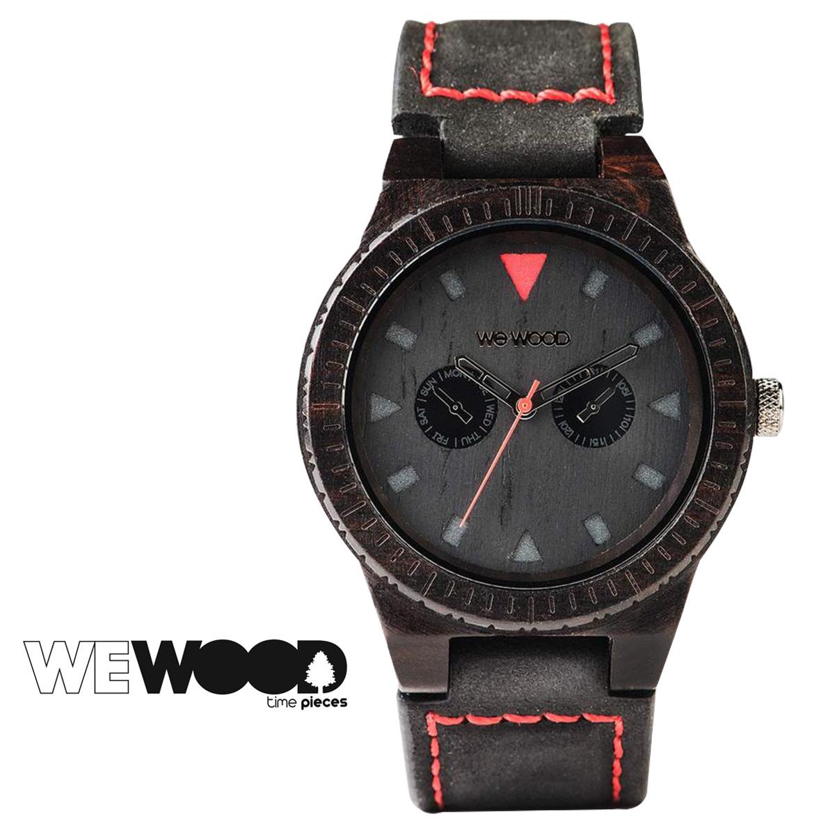 ウィーウッド 腕時計 レディース WEWOOD LEO TERRA ブラック BLACK メンズ