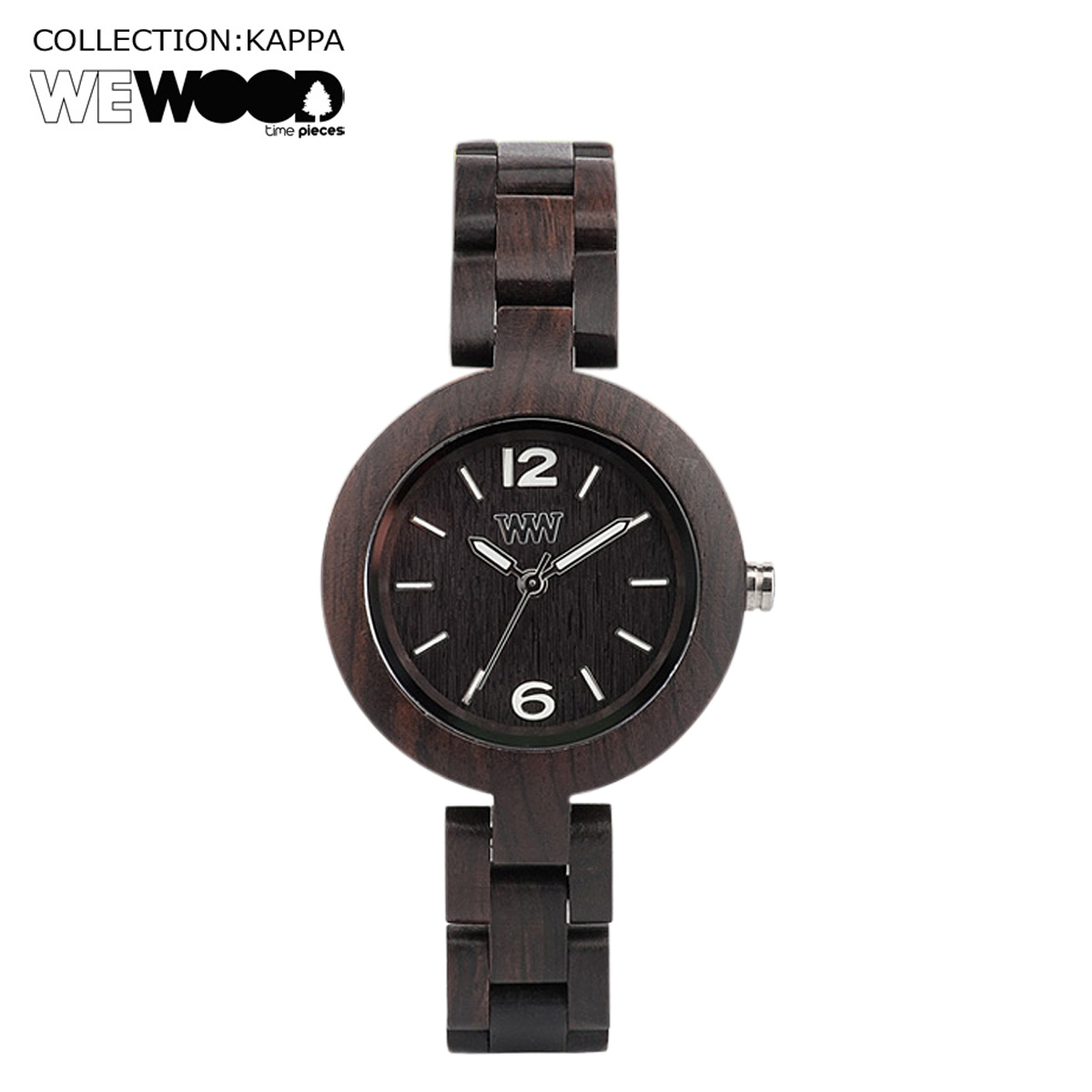 ウィーウッド 腕時計 レディース WEWOOD MIMOSA ブラック BLACK NATURAL WOOD
