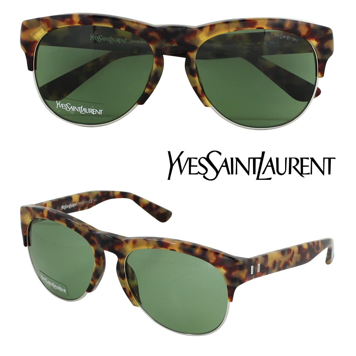 Yves Saint Laurent イヴサンローラン サングラス イタリア製 タートイズ メンズ レディース