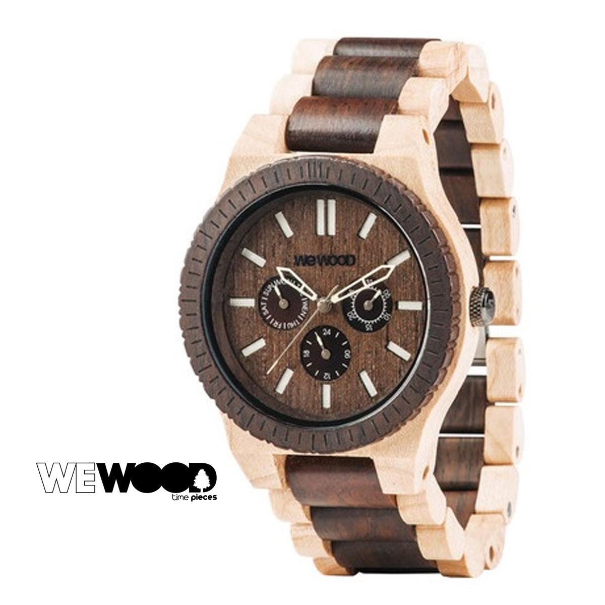 ウィーウッド WEWOOD 腕時計 KAPPA チョコ ホワイト 白 CHOCOLATE CREMA メンズ レディース
