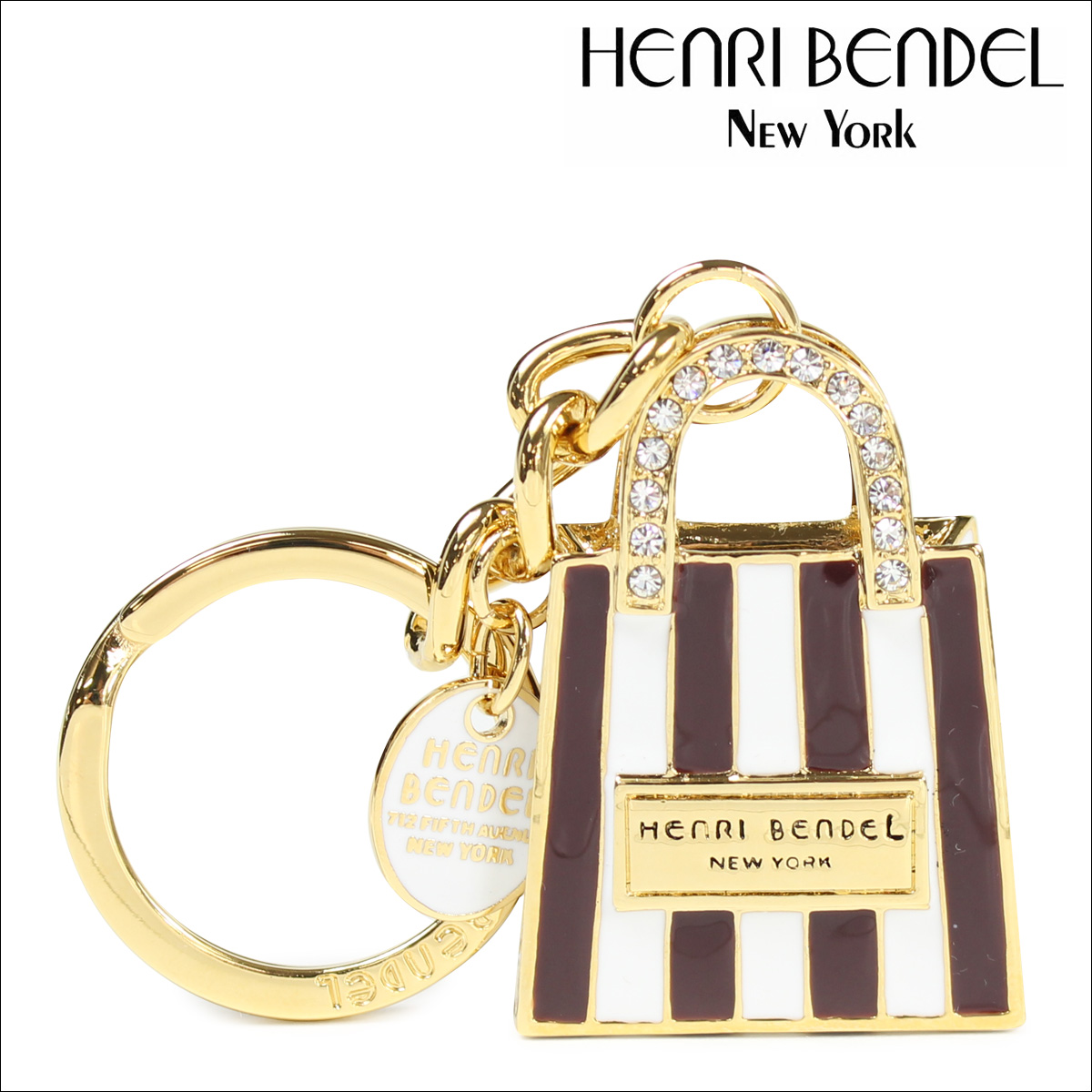 Henri Bendel Shopping Bag Key Fob sRM4vDqma