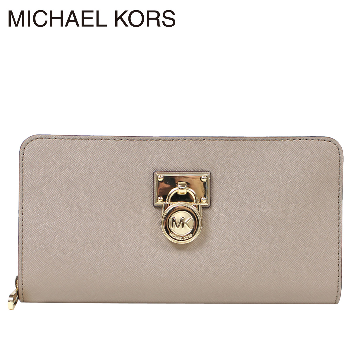 9aac2a6f6d0bc6 [up to 2,000 yen OFF coupon] Michael Kors wallet Lady's MICHAEL KORS long  wallet round fastener 35F6GHXZ3L ダークトープ [12/27 Shinnyu load]