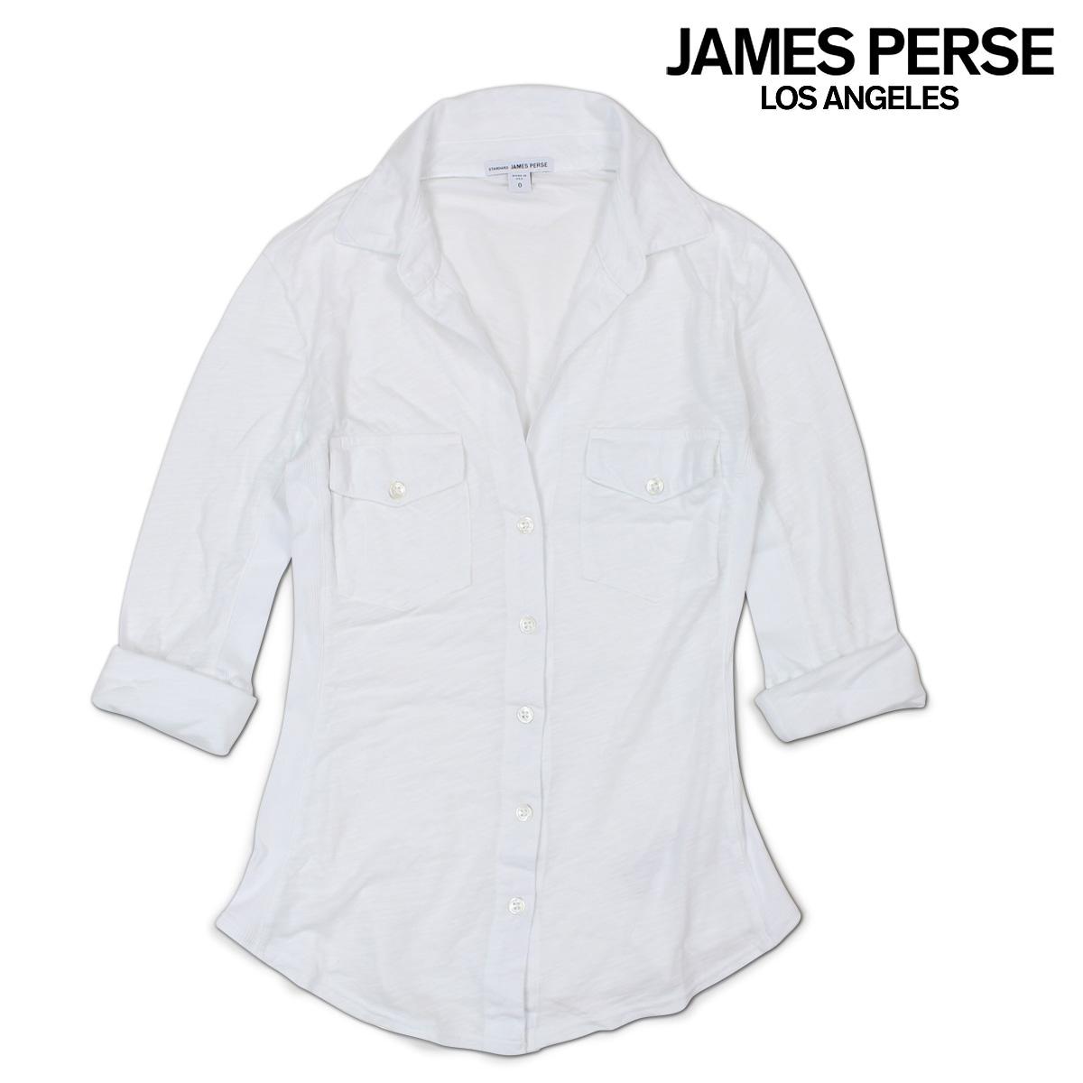 ジェームスパース シャツ JAMES PERSE レディース トップス ブラウス CONTRAST PANEL SHIRT 【決算セール 返品不可】