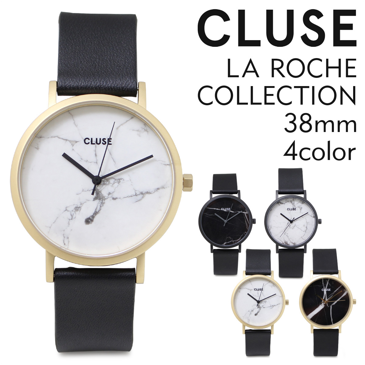 CLUSE 腕時計 38mm クルース レディース フル ロシェ コレクション LA ROCHE COLLECTION CL40001 CL40002 CL40003 CL40004